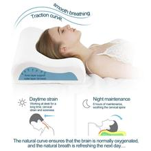 Power Of Nature Memory Foam Contour Pillow, Neck Support Cervical Bed Pillow for Sleeping, Side Sleeper - Relieve Neck Pain with mbr cell power neck