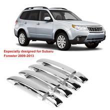 Крышка ручки двери автомобиля, отделка для Subaru Forester 2009 2010 2011 2012 2013 хромированная Гальваническая наклейка автомобиля, не выцветает, 8 шт.