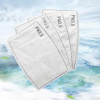 150pcs/Lot PM2.5 Filter Paper Anti-fog Face Mask Activated Carbon Anti Dust 5 Layers Flu-proof Filter Paper Health Care