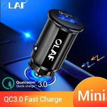 OLAF QC 3 0 Mini USB Car Charger For iPhone Samsung Xiaomi Huawei 5V 3A Fast Charging Quick Charge 3 0 Car Phone Charger Adapter cheap Qualcomm Quick Charge 3 0 QC3 0 usb car charger quick charge 3 0 Car Lighter Slot 12-24V 2 4A USB Car Charger Car USB Charger QC3 0 Car Charger