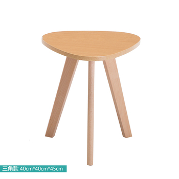 Nordic Solid Wood Small Coffee Table Simple Living Room Mini Small Round Table Small Apartment Sofa Triangle Side Table
