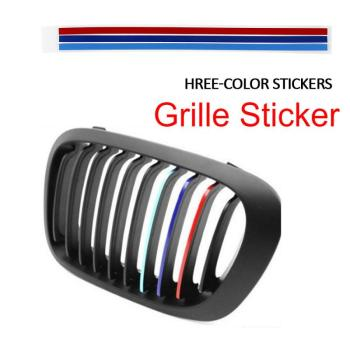 10 Set Car Strip Sticker Reflective Stickers Front Hood Grille Decals Car Styling Auto Decoration For Peugeot 206 Golf 7 Bmw E60 image