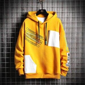 Image 5 - SingleRoad Mens Hoodies Men 2020 Winter Patchwork Hip Hop Japanese Streetwear Harajuku Black Sweatshirt Hoodie Men Sweatshirts
