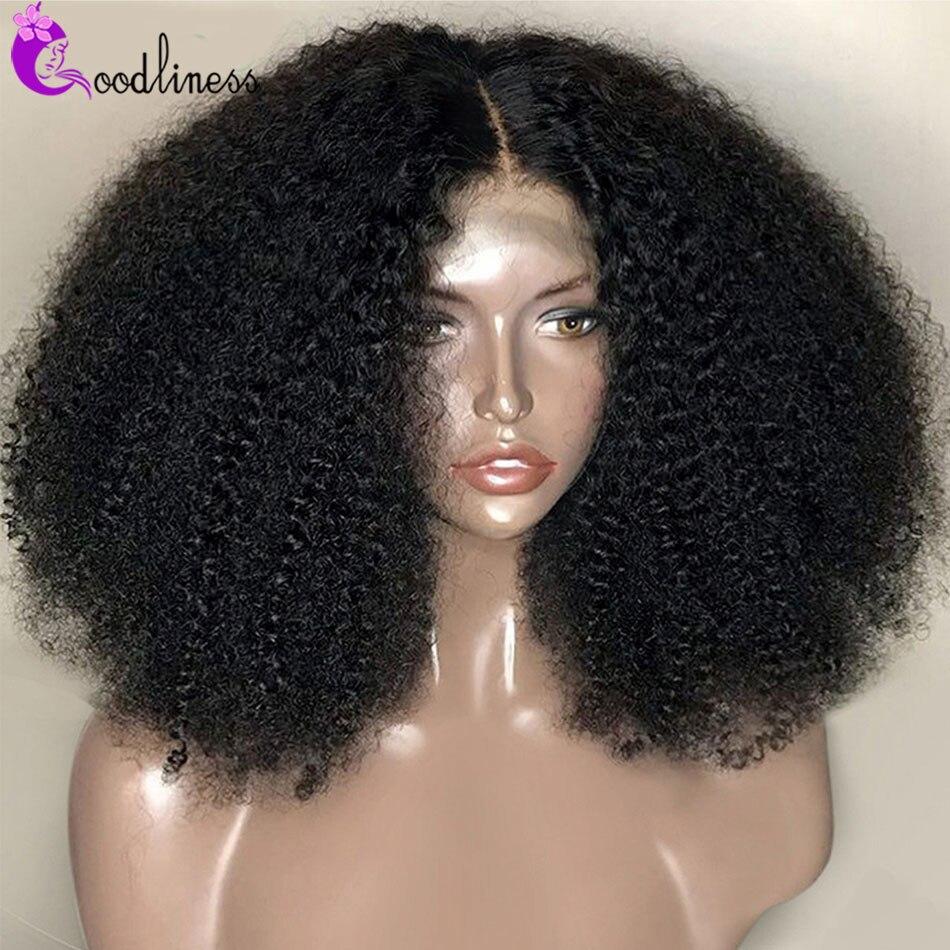 Монгольский натуральный короткий кудрявый афро парик шнурка 4x4 парик шнурка Remy женщины 250 плотность Короткие вьющиеся афро человеческие во...