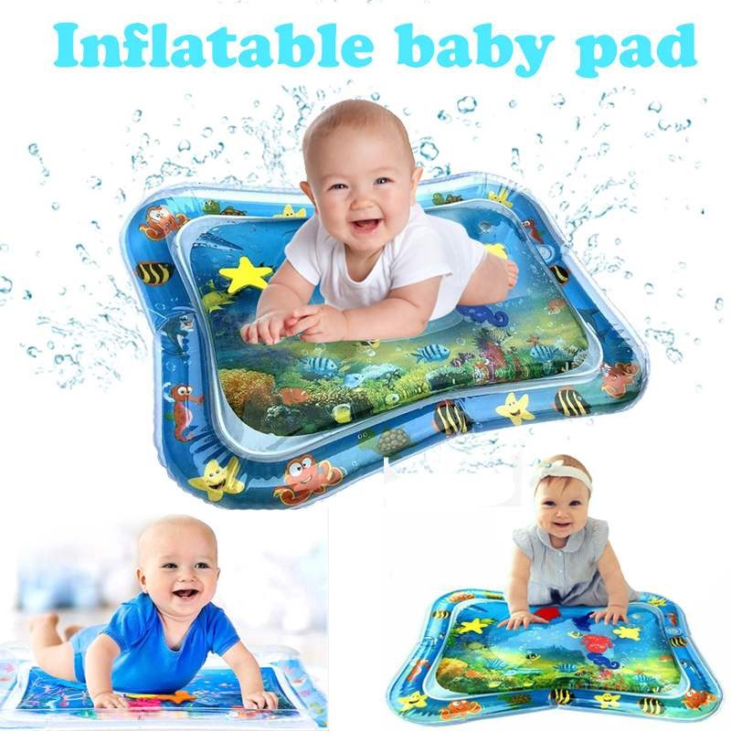Inflatable Water  Mat Infants Toddlers Fun Tummy Time Play Activity Center