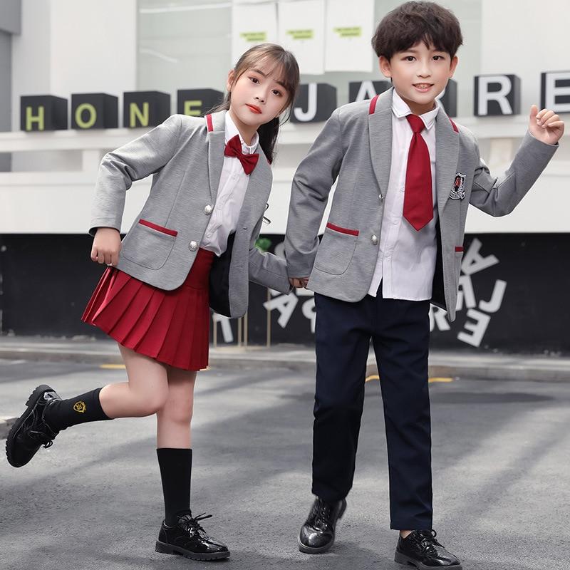 Kindergarten Suit Spring And Autumn New Style British-Style Suit Primary School STUDENT'S School Uniform Business Attire