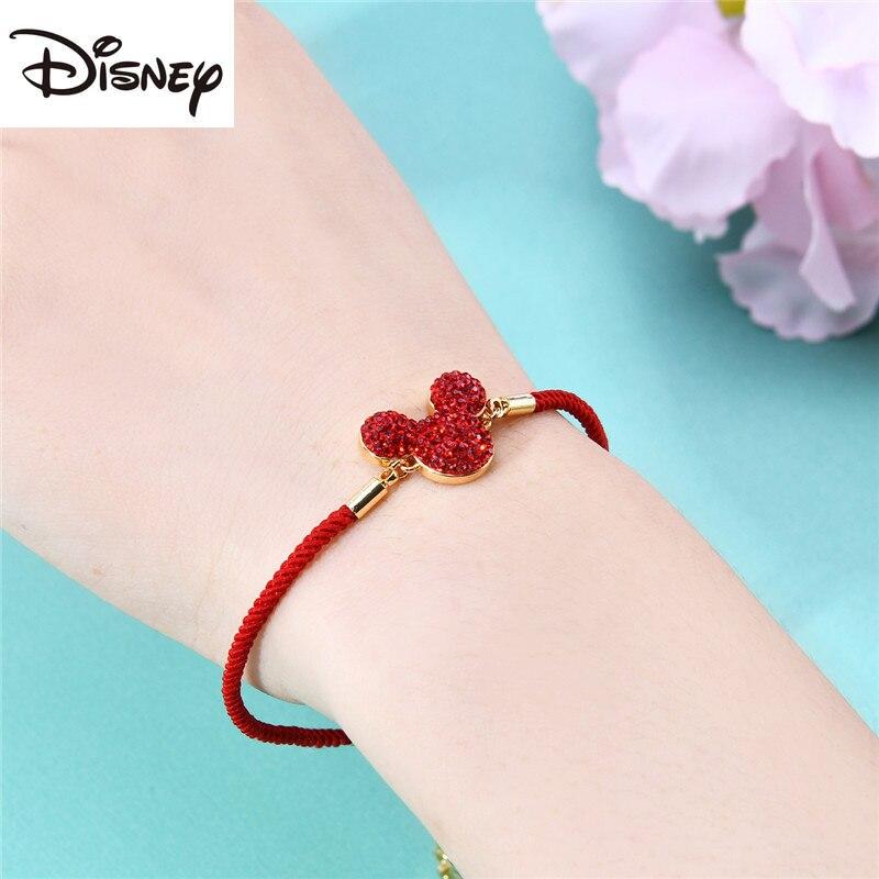 Disney Fashion Hot Sale Net Mickey Lady Charm Bracelet Youth Trend Jewelry Luxury Lady Jewelry Birthday Valentine's Day Gift
