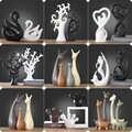 Home Garten Decor Dekoration Handwerk Figuren & Miniaturen Keramik Moderne Kunst und Handwerk Geometrische Ornament Weihnachten Figuren