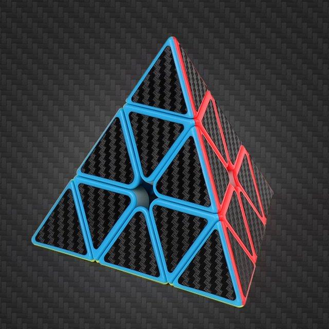 Magic Cube Pyramid Multi-Order Magic Cube Carbon Fiber Sticker Series Magic Cube Children'S Educational Toys 5