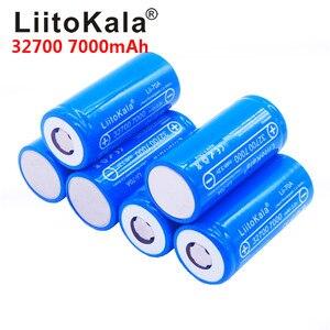 6pcs LiitoKala lii-70A 32700 lifepo4 cell 7000mah 3.2V LiFePO4 rechargeable battery with flat top for flashlight 32700 battery