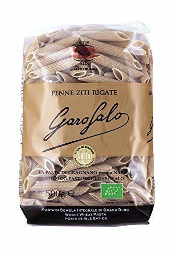 Garofalo - 5-70WHOLE Wheat Penne RIGATE - Wholemeal Pasta - Organic - Pack Of 16 X 500g
