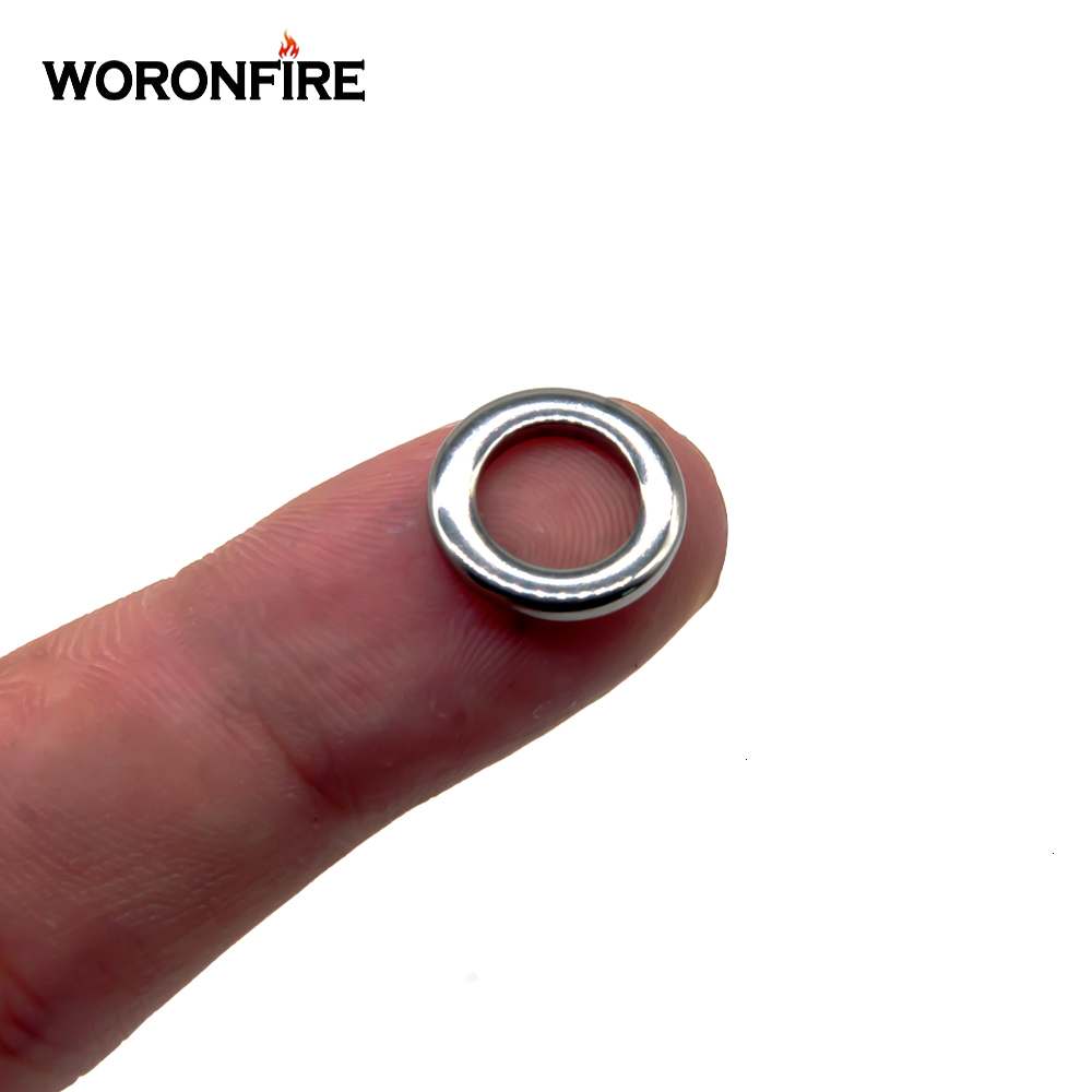 50/100pcs Fishing Solid Ring 304 Stainless Steel Snap Split Ring Pesca Lure Tackle Connector Heavy Duty Lures Lead Jigging Ring