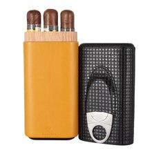 Galiner Кожаный Чехол Дорожный увлажнитель для сигар коробка