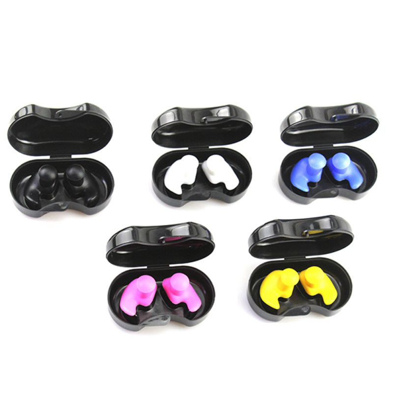 1 Pair Soft Silicone Ear Plugs Ear Protection Reusable Waterproof Earplugs Noise Reduction For Sleeping Swimming Earplugs