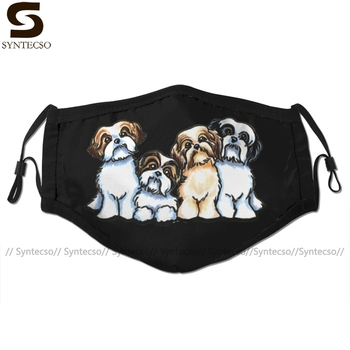 Shih Tzu Dog Mouth Face Mask Four Facial Fashion Cool with 2 Filters for Adult