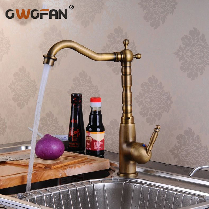 Kitchen Faucets Antique Bronze Tap High Arch Touch on Taps For Kitchen Deck Mounted Single Lever