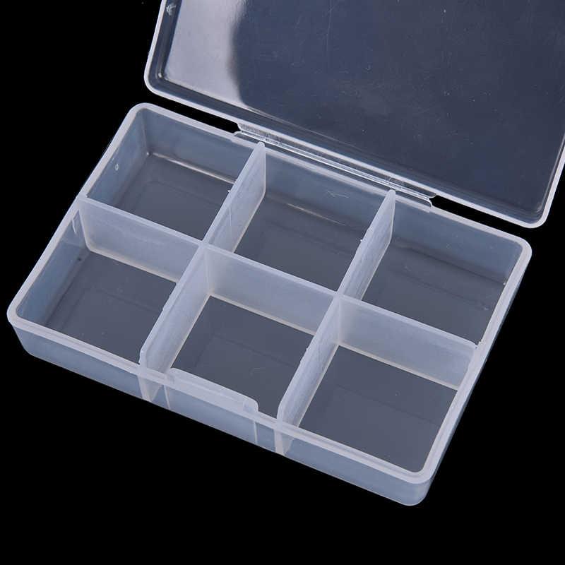Récipient de boîte de pilule claire de 7 jours 6 compartiments pour la médecine de pilule