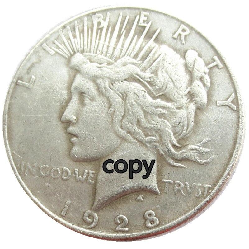США 1928 посеребренное покрытие, копия доллара, монет
