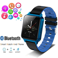 2019 New Long standby Bluetooth smart watch OLED Color screen fashion Man smartwatch Call clock For iPhone Reloj inteligente+box