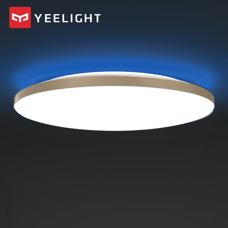 Xiaomi Mijia YEELIGHT 50W Smart LED Ceiling Lights Colorful Ambient Light Homekit Mijia APP Control AC 220V For Living Room