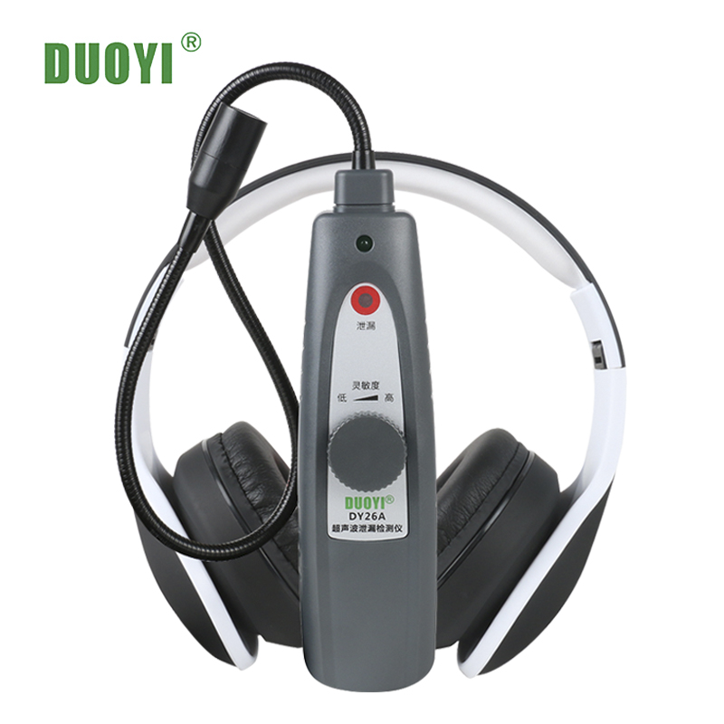 Duoyi DY26A Ultrasonic Kebocoran Alat Deteksi Gas Kebocoran Air Pressure Vacuum Probe Ultrasonic Transmitter Flaw Detector Stetoskop title=