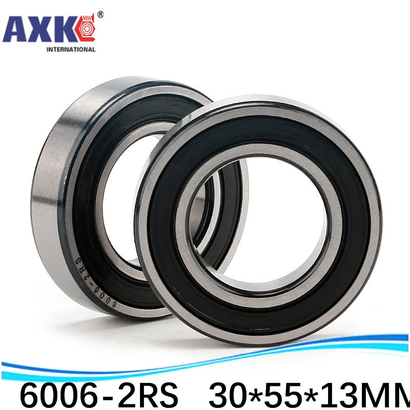 BLACK 35x62x14 mm 6007-2RS 4 PCS 6007RS Rubber Sealed Ball Bearing Set