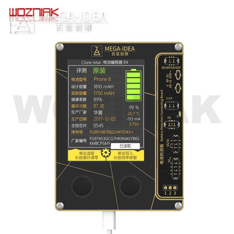 Qianli メガアイデアバッテリープログラマ iphone 5 6 6s 7 7 1080P 8 X XS XS 最大バッテリーデータ読み書きバッテリーサイクルクリアツール