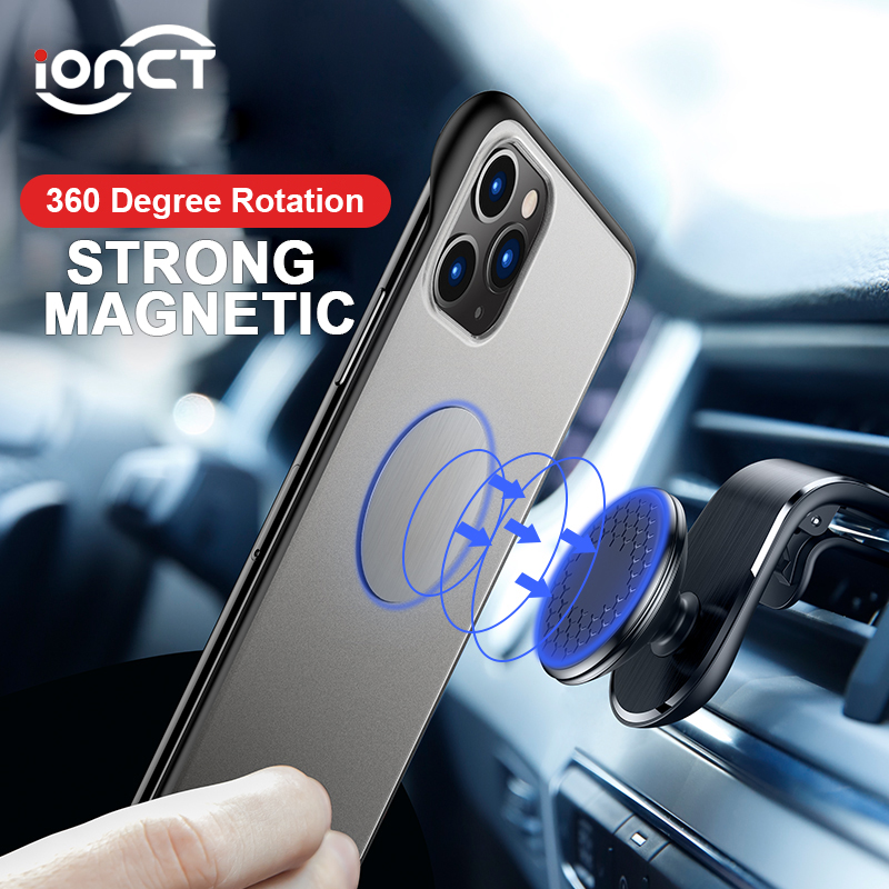 IONCT Magnetic Car Phone Holder For IPhone Xiaomi GPS Air Vent Mount Stand Mobile Phone Magnet Phone Car Holder Universal
