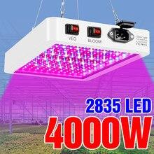 4000w luz da planta 5000w espectro completo filampe painel led à prova dwaterproof água lâmpada phyto plântula plantas de flores crescente luzes 2835 smd