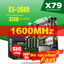 Atermiter X79 Turbo материнская плата LGA2011 ATX Combos E5 2689 CPU 4 шт. x 8 ГБ = 32 ГБ DDR3 RAM 1600 МГц PC3 12800R PCI E NVME M.2 SSD