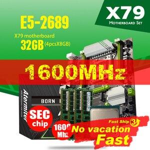 Image 1 - Atermiter X79 Turbo материнская плата LGA2011 ATX Combos E5 2689 CPU 4 шт. x 8 ГБ = 32 ГБ DDR3 RAM 1600 МГц PC3 12800R PCI E NVME M.2 SSD