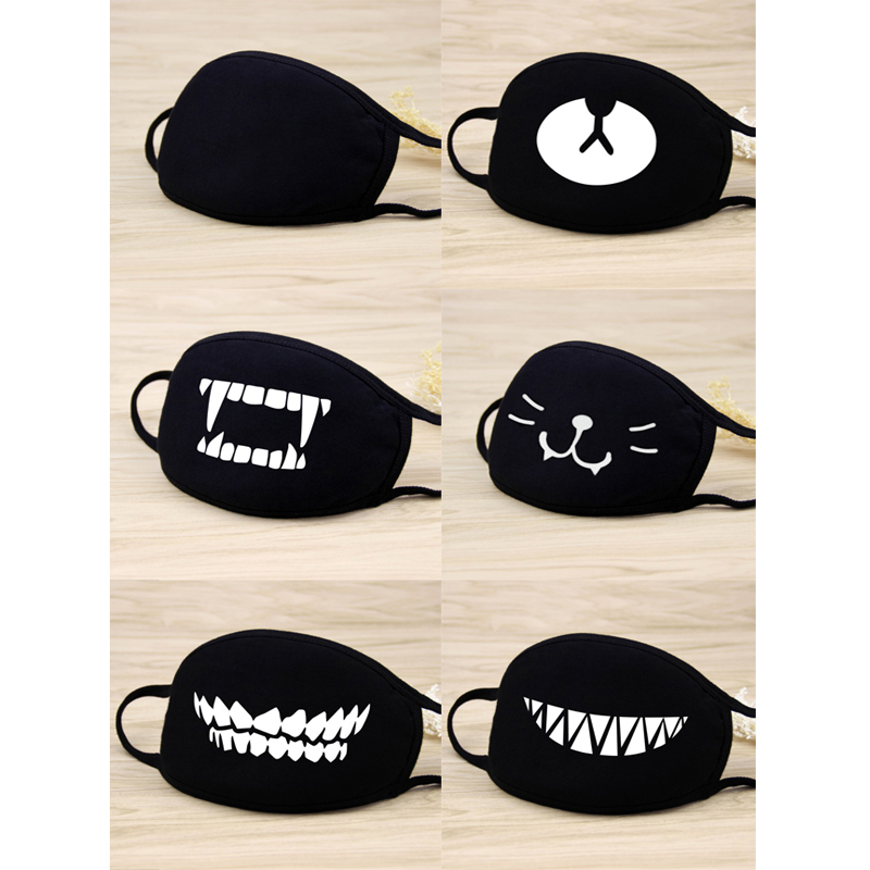 Cartoon Dust Mask Cotton Cute Bear Mask Anti Dust Mouth Mask Muffle Chanyeol Teeth Face Respirator Breathable Reusable Face Mask
