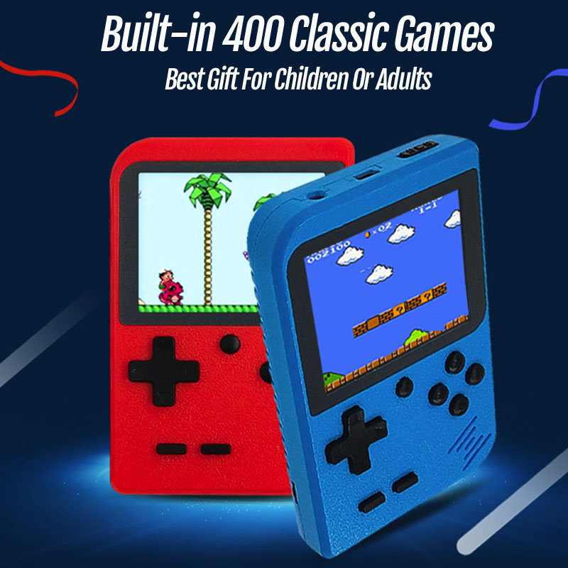 2019 neue Handheld Spielkonsole Eingebaute 400 Klassische Spiele Mini 8 Bit Tasche Tragbaren Player Retro Video Spiel Konsole