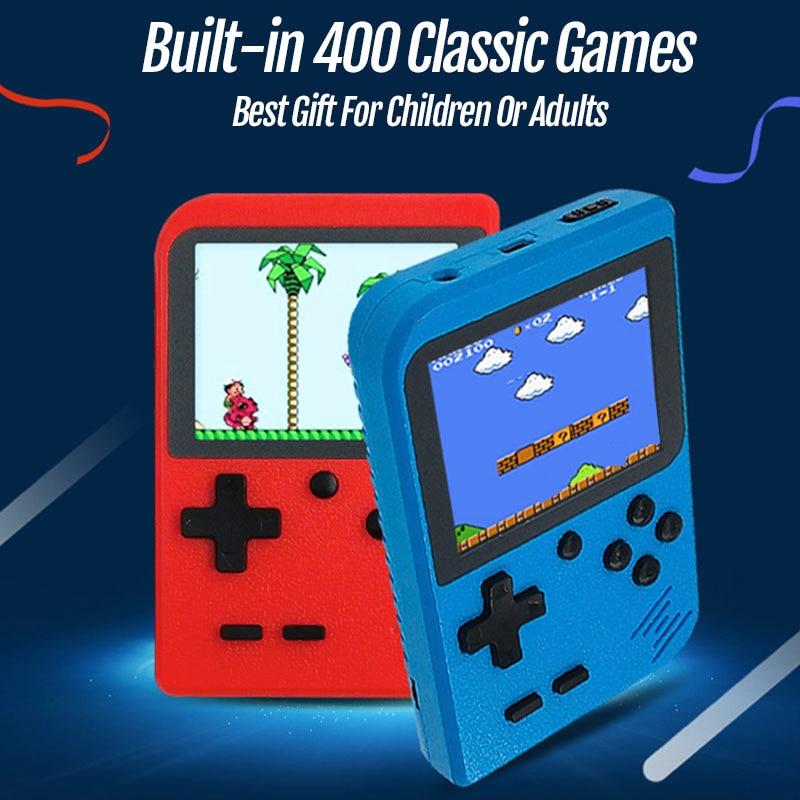 2019 nova handheld game console embutido 400 jogos clássicos mini 8 bits bolso jogador portátil retro videogame console