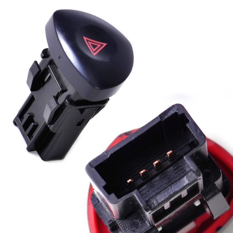 Botão do interruptor de advertência para renault clio ii hatchback 2001-2003 2005 2006 8200442723 82000060036 luzes de perigo de emergência