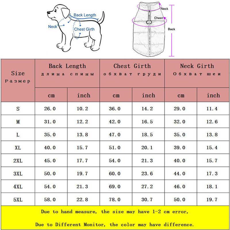 Wasserdicht Pet Weste Jacke Großen Hund Kleidung Für FrenchBulldog Warme Hund Mantel Labrador Winter Nylon Kleine Medium Hund Kleidung