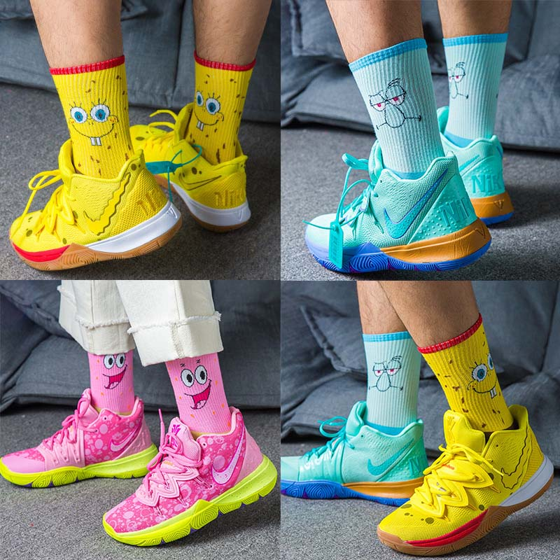 Exempt Postage Fashion New Combed Cotton Deodorant Hip Hop Women Men Socks Cartoon Couple Funny Happy Socks Slippers