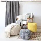 Desmontable y puro a prueba de manos a prueba de moho algodón tejido futon cojín yoga asiento cambio zapato Banco tatami meditación mat - 2