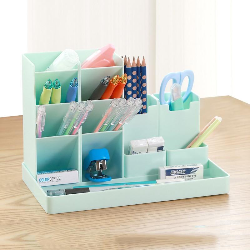 Large Capacity Cute Desk Pen Holder Pencil Storage Box Desktop Organizer Stand Case School Office Stationery 1