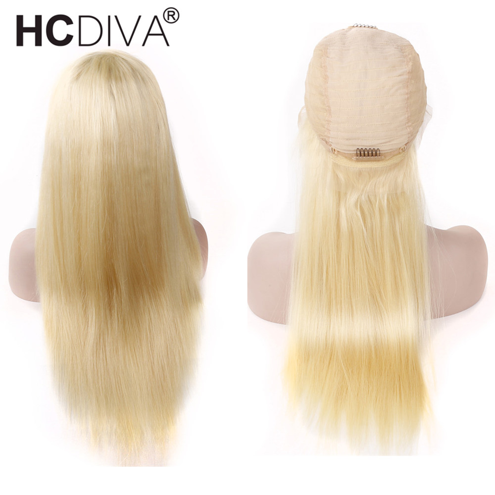 613 Blonde Lace Front Wigs 150% Lace Front Human Hair Wig Pre Plucked With Baby Hair Remy Tranasparent Lace Blonde Brazilian Wig