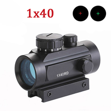 Tactical 1x40 Hunting Optics Scopes Red Green Dot Scope Airsoft Paintball Fit For 11mm 20mm Picatinny Rail