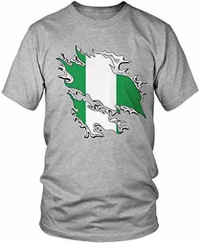 אופנה קצר שרוול מכירה 100% כותנה ניגריה דגל ניגרי דגל לקרוע דרך, ניגריה גאווה גברים של חולצה