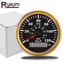 85mm Car Motor GPS Speedometer Waterproof Digital speed meter COG SOG Gauge 120 Km/h 75MPH instrument panel motorcycle цена