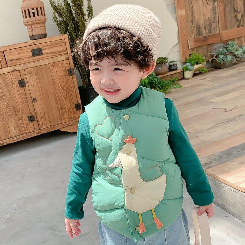 Kids Vest Sleeveless Jacket Children's Clothing Waistcoats For Boys Cotton Winter Autumn Toddler Girl Vest Outerwear Jacket 3