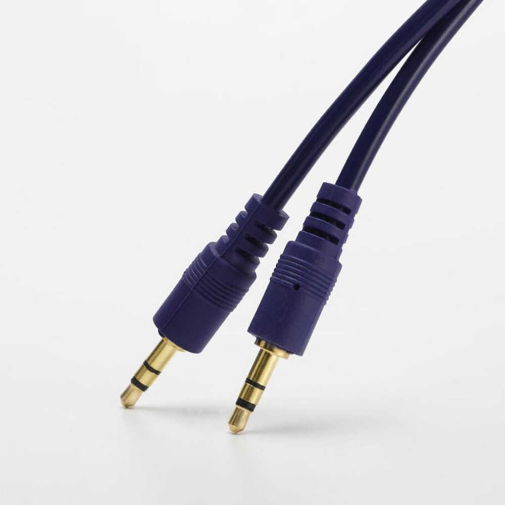 LDAMAI Jack 3.5 Audio kabel 3.5mm Jack męski na męski Audio przewód AUX dla iPhone Samsung samochód zestaw słuchawkowy z głośnikiem linia drutu przewód Aux
