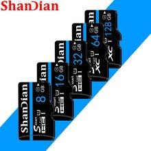 Transferência de alta velocidade do cartão class10 de shandian micro sd tf com adaptador os cartões de memória 64gb 128gb 16g 8g 32gb para o telefone da câmera etc.