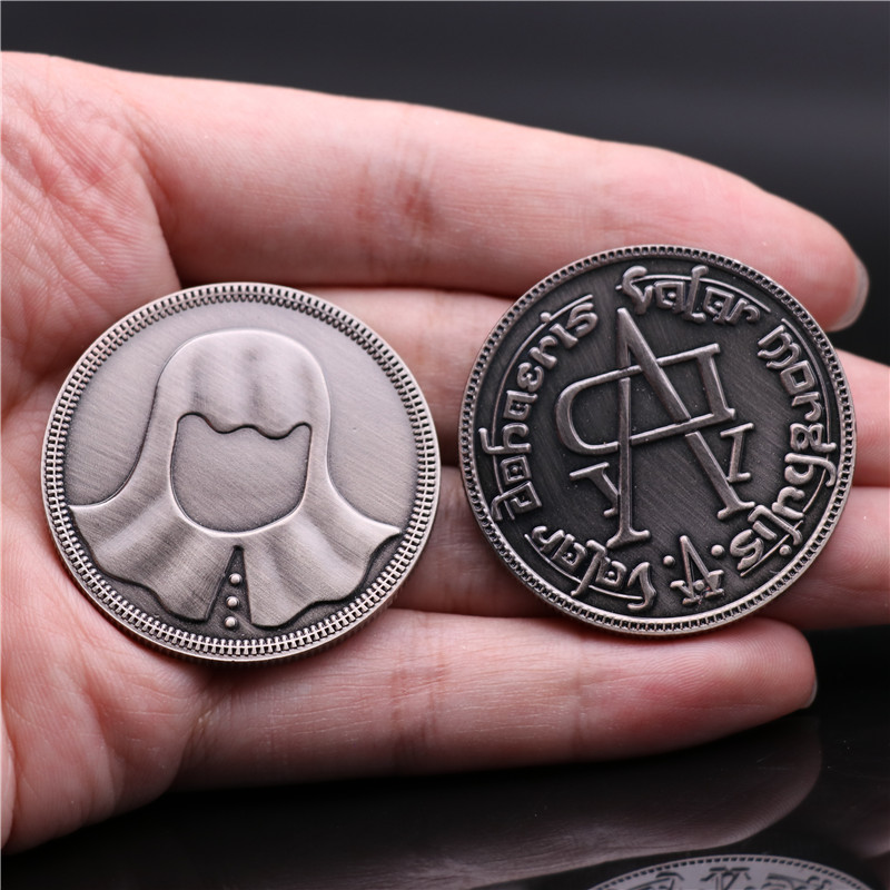 Hot New Movie Game Of Thrones Faceless Men Jaqen H'ghar Arya Stark Coin Cosplay Badge Alloy Collect Fancy Christmas Gift