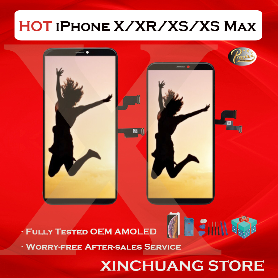 Original Quality LCD For iPhone X XR XS MAX OLED 11 Screen Replacement Display With 3D Touch True Tone No Dead Pixel With Tools
