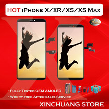 Pantalla LCD de calidad Original para iPhone X, XR, XS MAX, reemplazo de pantalla OLED con tono verdadero táctil 3D, sin píxeles muertos con herramientas