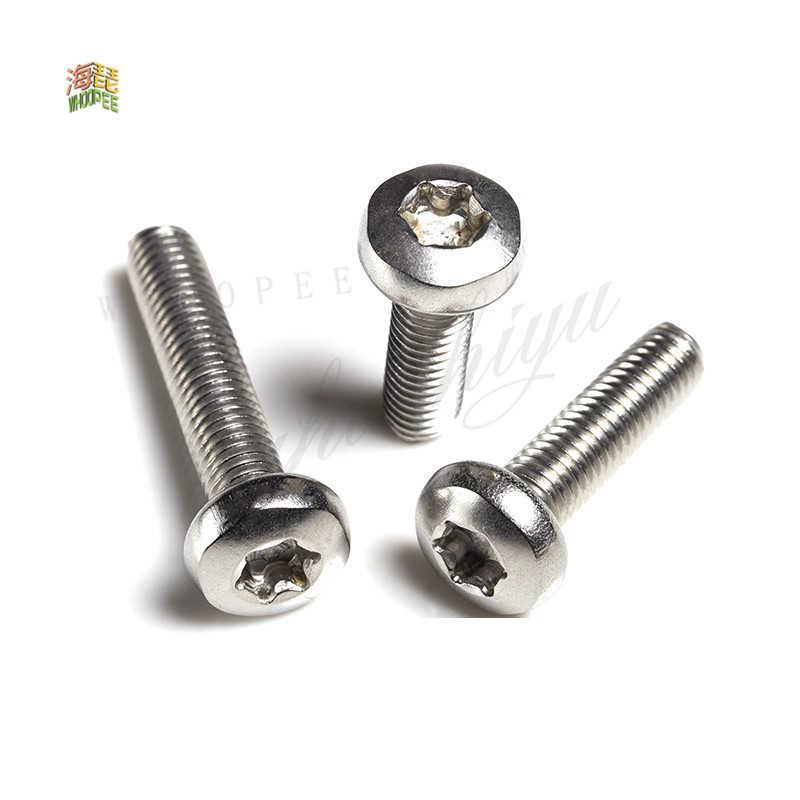 10//50 M2-M6 GB2672 Black Stainless Steel Six-Lobe Torx Pan Round Head Screw Bolt